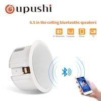 Oupushi bluetooth ceiling speaker 10w wireless loudspeaker system 6.5 inch stereo music wall pa speaker