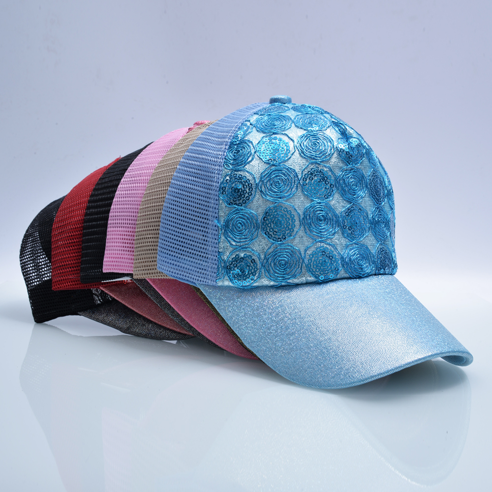 Qızın Günəş Qapağı Snapback Parıldayan Hip Hop Trucker Şapka - Geyim aksesuarları - Fotoqrafiya 6
