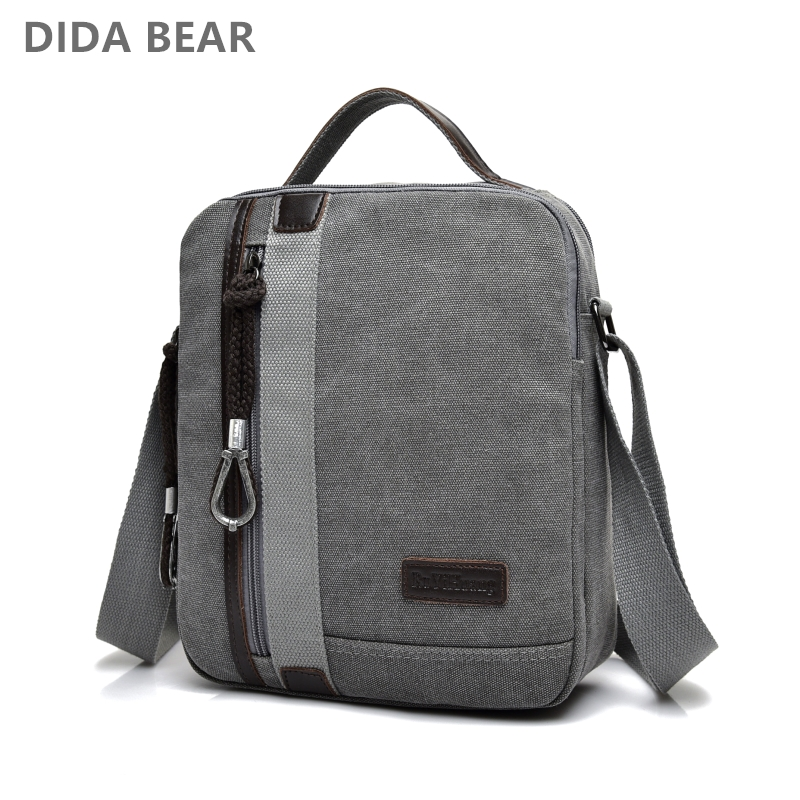 New Men Crossbody Shoulder Bags Male Canvas Messenger Bags Boy Small Satchels for Travel Casual High quality Fashion Black Bag