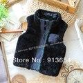 Бесплатная доставка в розницу новые 2013 мода осень зима детская одежда мальчика меховой жилет дети верхняя одежда для детей теплый жилет