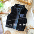 Free shipping Retail new 2013 Fashion autumn winter baby clothing baby boy fur vest vest children outerwear kids warm waistcoat