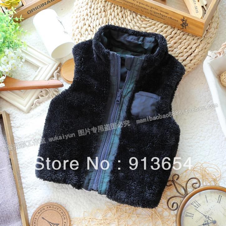 Free shipping Retail new 2013 Fashion autumn winter baby clothing baby boy fur vest vest children outerwear kids warm waistcoat