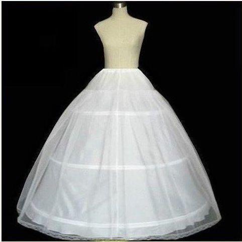 Hot Novia Enaguas Underskirt Wedding Slip Wedding Accessories Chemise 3 Three Hoops For A Line Wedding Dress Petticoat Crinoline