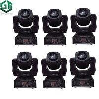 6 teile/los Heißer verkauf hohe helligkeit 60W spot moving head licht bühne dj DMX512 60 watt led mini gobo moving heads