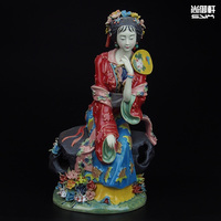 Shiwan doll master of fine ancient characters of a dream of Red Mansions twelve beauties figure ceramic ornaments crafts