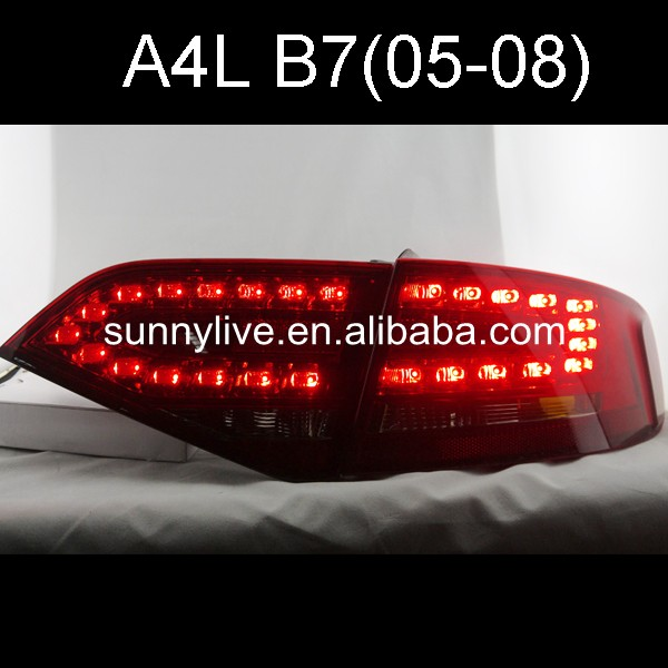 2005 2008 Year For Audi A4 B7 LED Tail Light Rear Lamp Red