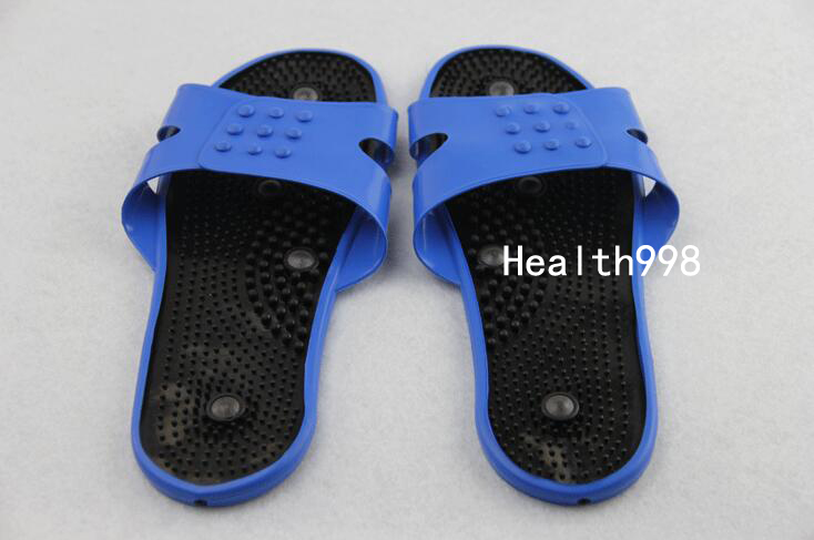 Health Care Foot Massager Electrode Physiotherapy Slippers Acupuncture Digital therapy Muscle Stimulator Rubber Slipper electric antistress therapy rollers shiatsu kneading foot legs arms massager vibrator foot massage machine foot care device hot
