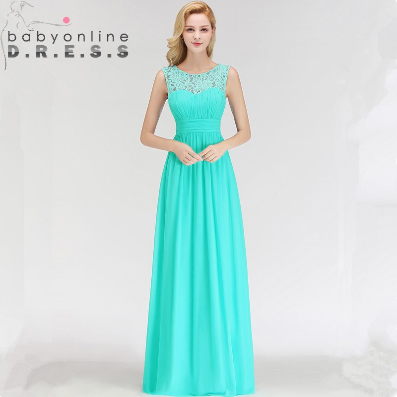 Charming O Neck Sleeveless Lace   Evening     Dresses   Sexy Appliques Long Chiffion A Line Formal   Dresses   34 Colors Custom Make