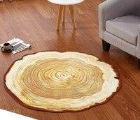 3D Antique Wood Annual Ring Carpets Bedroom Decoration Parlor Floor Round Carpet Living Room Floor Rugs Slip Resistant Mats C126