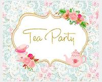custom Tea Party Baby Shower Gender Neutral High Tea Flower Leaves background High quality Computer print wall backdrops