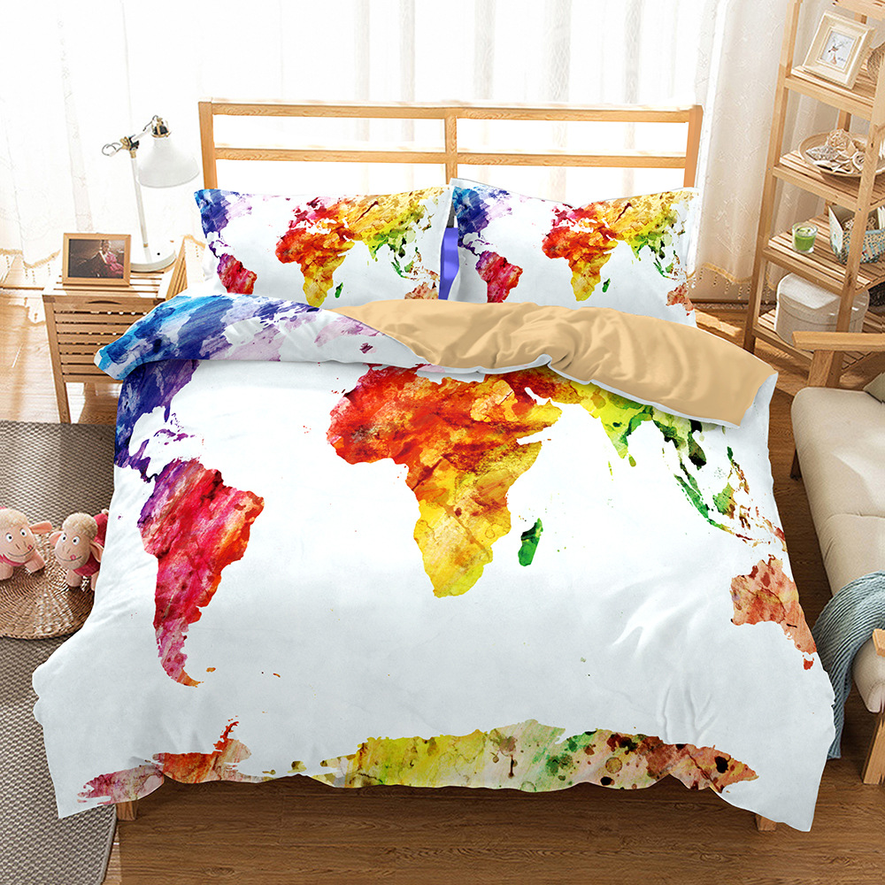 e299d28420edf ... World Map Bedding Set world map Duvet Cover Pillowcase 3pcs Bed Cover  Bedclothes High Quality Twin ...
