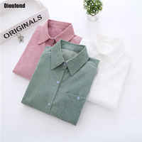 Dioufond Women Blouse Shirt long Sleeve Summer 2017 New Fashion Korean Style Preppy White Women Tops Ladies Office Clothing
