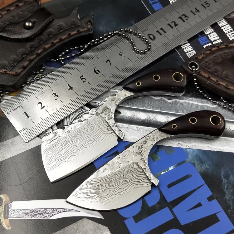 цена на PSRK hot The wild saber survival Damascus straight knife Mini outdoor camping Multi-function knife Excellent tool sharp scalpel