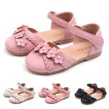 Huang Neeky W#4 Новая мода малыш младенец дети девочки цветок тканые Цветочные обувь для принцессы сандалии очаровательный дизайн лето Горячая