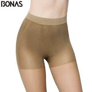 Image 3 - BONAS Designer Seamless Collants Dété Femmes Slim Sexy Noir Mince Nylon Collants Pour Les Filles Plus La Taille Femelle En Gros
