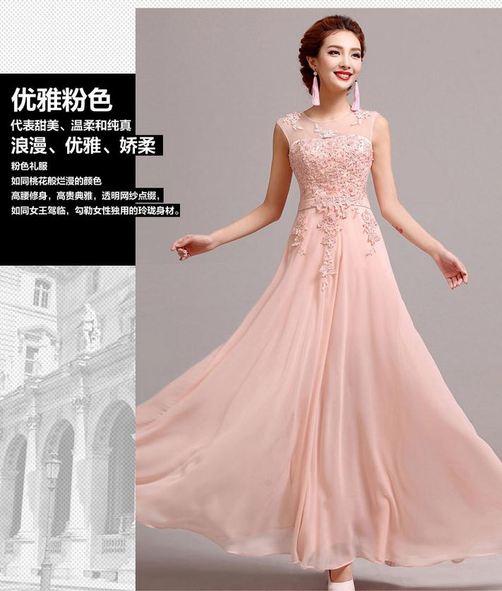 Factory outlet 2018 fashion bride toast clothing long etiquette bridesmaid dress dinner party host Cheongsams w1386