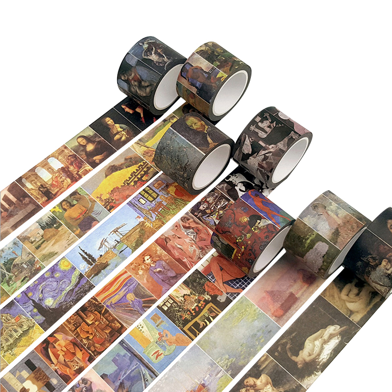 Creative Classical Famous Western Painting Decorative Adhesive Washi Tape DIY Scrapbooking Masking Tape School Office Supply все цены