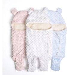 Velo cobertor do bebê recém-nascido swaddle envoltório macio inverno bebê cama recebendo cobertor manta bebes saco de dormir 0-18m recém-nascidos