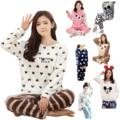 Gaorui novo inverno mulheres pijama de flanela animais conjuntos de pijama feminino pijamas plus size quente velo coral presente de natal
