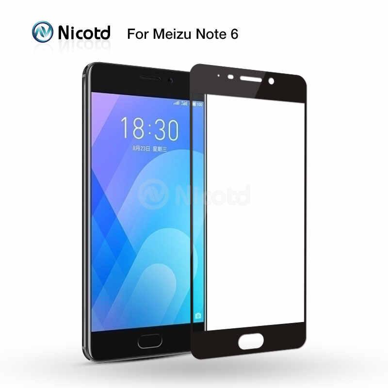 Nicotd Penuh Cover Tempered Glass untuk Meizu M6 Catatan M5 M5S M5C Pelindung Layar untuk Meizu M3 Catatan M3S MX6 u20 U10 Film Pelindung