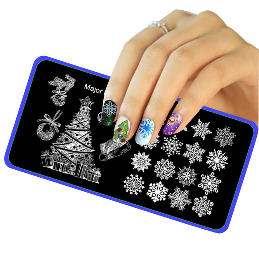 5 Styles Nail design Template Brand New 1PC Christmas DIY Nail Art ...