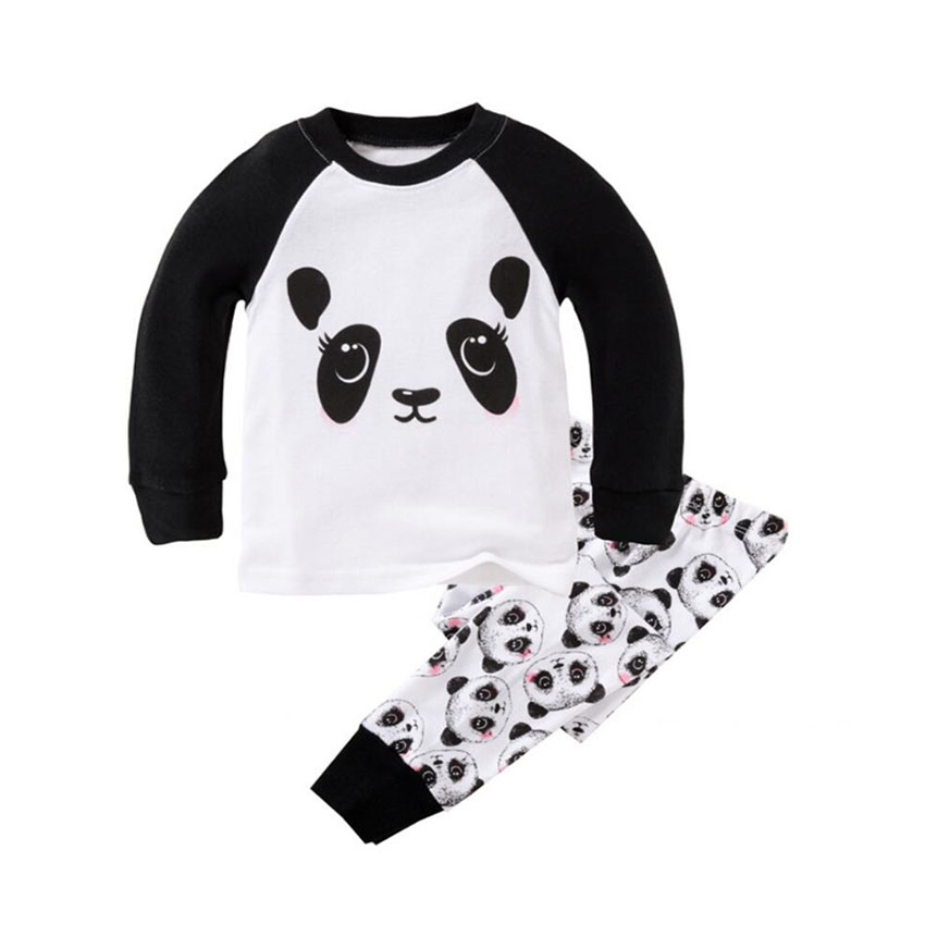 Long Sleeve Children's Pajamas Sets Cotton Christmas Pajamas for the Boys Sleepwear Pajama for Girls Baby Clothes Suit for 2T-7T