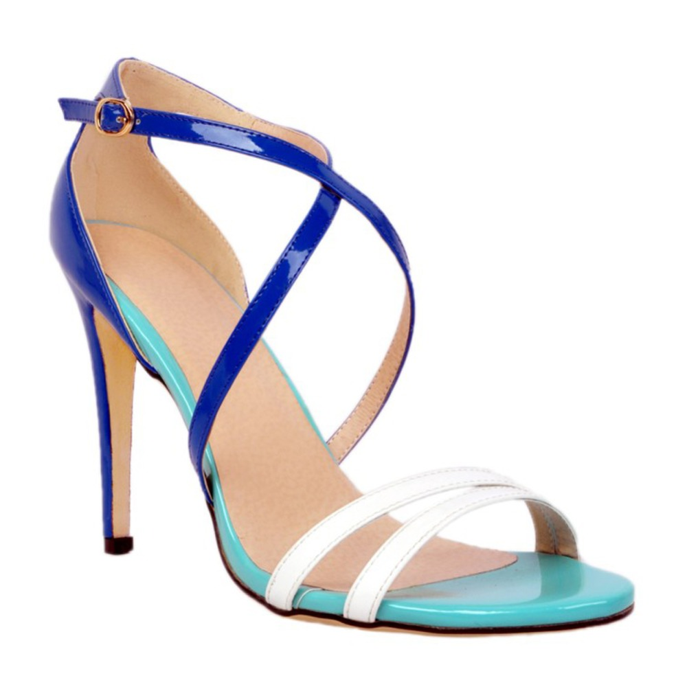 Stock Clearance Sale Ladies High Heel Sandals Cross-straps Buckle Strap Party Prom Fashion Shoes Size XD057 EU44