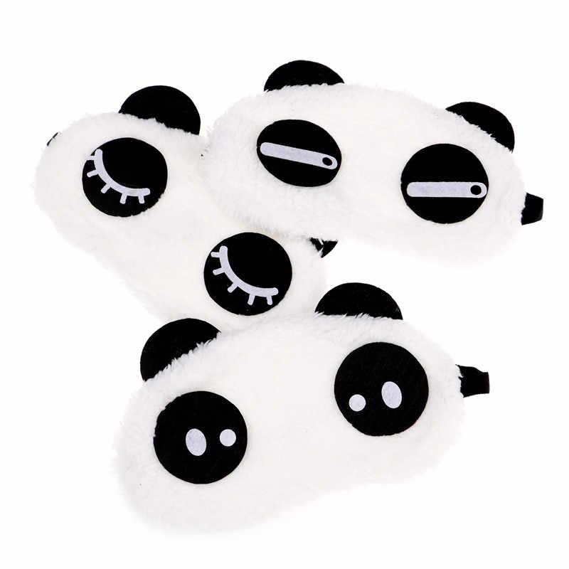 Милые Kawaii лицо белая панда маска для глаз тени для век затенение сна хлопковые очки маска для глаз маска для сна крышка для глаз инструмент для ухода за здоровьем