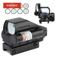 WIPSON Hunting Optics Rifle Scopes Red Dot Sight Holographic Sight 4 Type Reticle Reflex Pistol Tactical Airsoft Air Guns Rifles