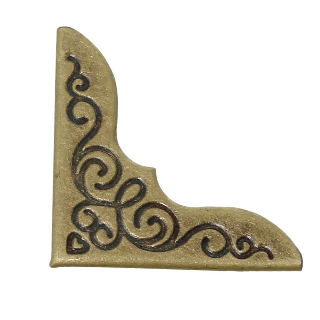 Book Scrapbooking Albums Menus Folders Corner Protector Antique Bronze Flower Pattern 23mm X 23mm,200 PCs 2016 New