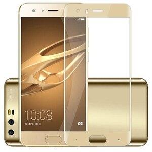 Image 4 - Tam kapak renk temperli cam için Huawei onur 9 onur 9 Lite Honor9 9 Lite ekran koruyucusu filmi siyah beyaz mavi gri