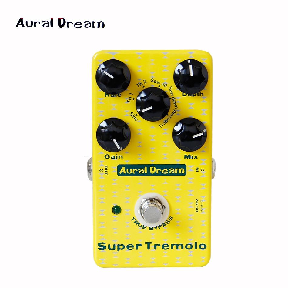 NEW Effect Pedal / aural dream Super Tremolo Digital Effect Pedal TRAPEZOID guitar pedal цены онлайн