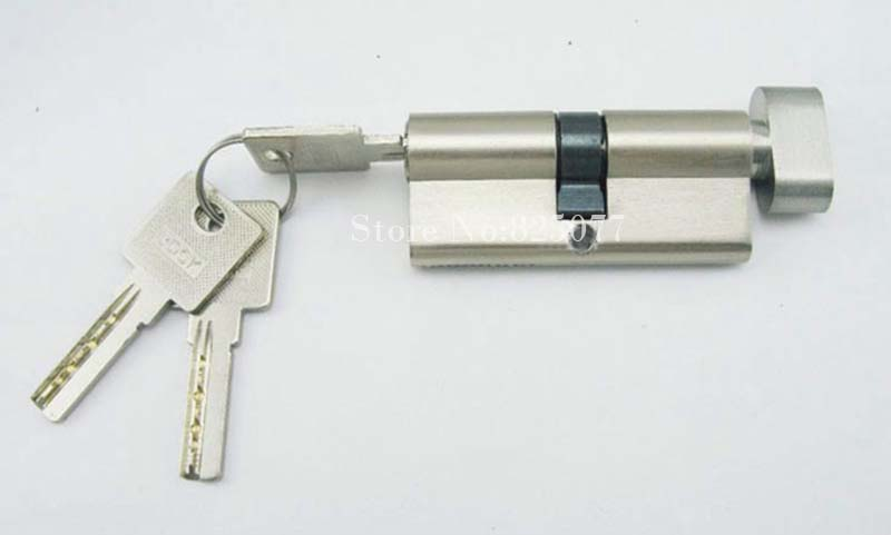 Livraison gratuite 1 pièces haute qualité porte serrure cylindre intérieur porte serrure cylindre avec 3 laiton clé serrure Gall HM181
