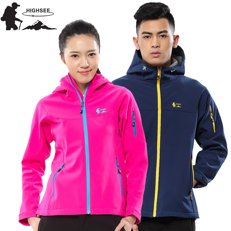 HIGHSEE Softshell Waterproof Jacket Hiking Jaqueta Feminina Outdoor Agasalho Masculino Esportivo Softshell Jacket Women Softshe ветровка dickies softshell jacket navy