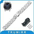 22mm de cerámica + acero inoxidable reloj band para samsung gear s3 clásico/frontier butterfly pulsera hebilla de correa de liberación rápida