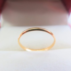 999 24K Yellow Gold Ring Lucky Perfect SZ 6 Ring 1-1.5g