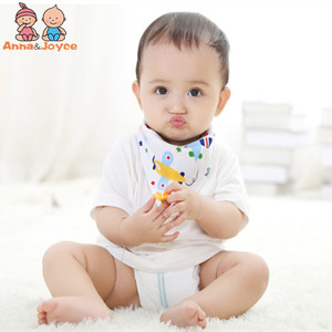 Image 3 - 20 teil/los Baby Lätzchen 100% Baumwolle Dreieck Kopf Schal Junge Kopftuch Mädchen Babador Bandana Dribbeln Bib