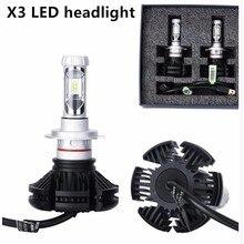 Super Bright 50W/Set 12000lm/Set 6500K S1 All in one X3 LED Del Faro Auto 6000lm Lampadina H4 H7 H8 H11 H16 H1 H3