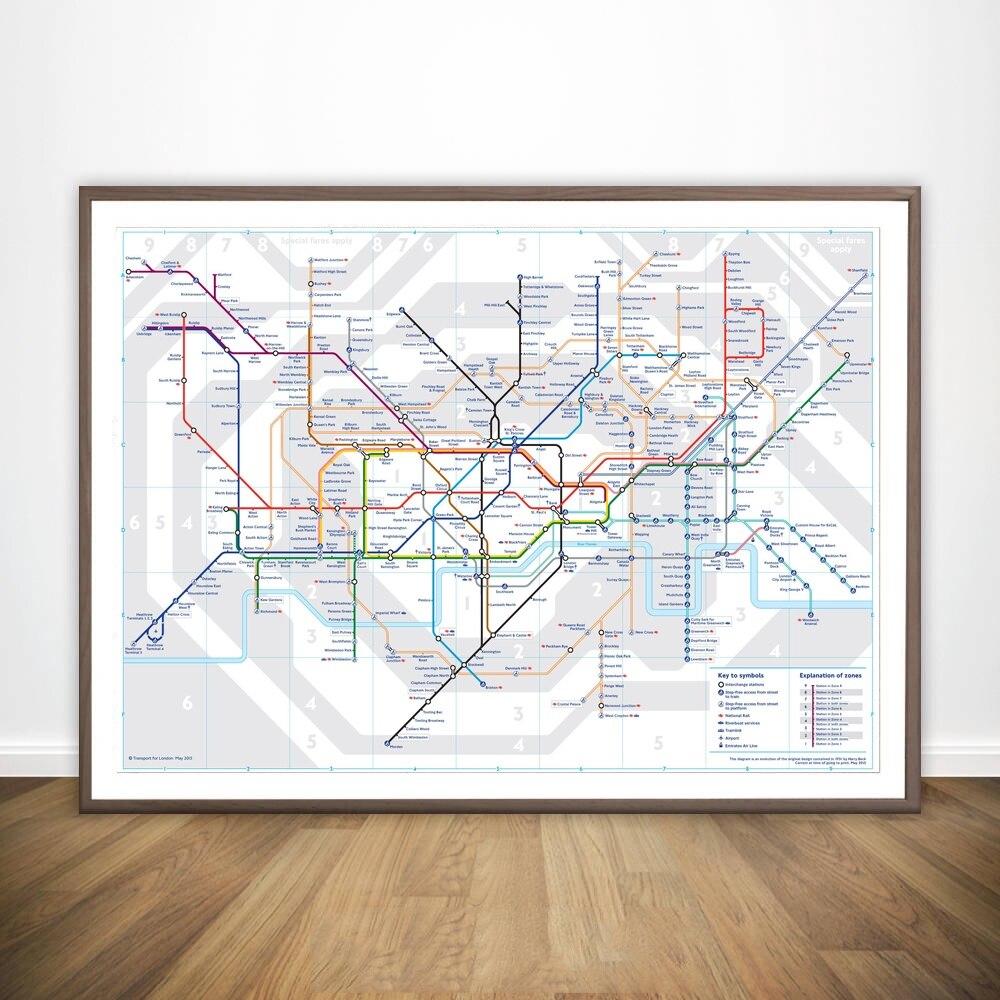 Hot Sale London Tube map Movie Wall Art Paint Wall Decor Canvas ...