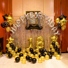 1set 21 18 25 30 50 years old Happy Birthday letter Balloons Party Decoration 2.3g Gold Latex Balloon 32inch Number digit globos