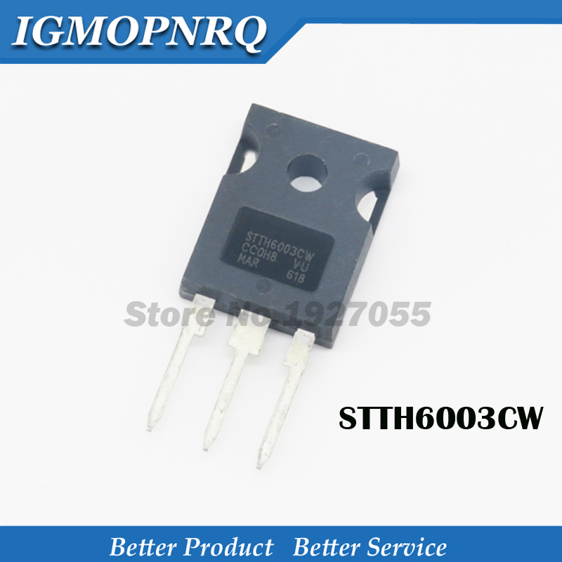 5pcs STTH6003CW TO-247 STTH6003 TO-3P 300V 60A New Original