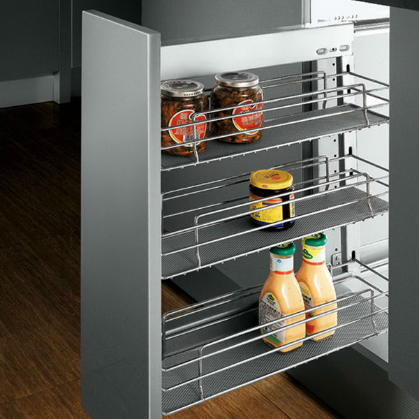 Kitchen Drawers Cabinet Pull Out Kitchen Basket Finished Side Type ...