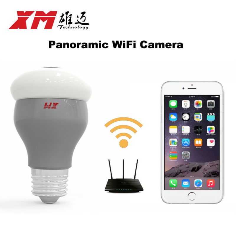 New HD 3MP WiFi IP Camera Panoramic View 360 degree Light Bulb Camera 1080P Smart Home VR 360 Cameras Wireless Built in Micro SD - 4