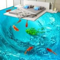 Envío Libre baño pasillo dormitorio Hermoso cristal decoración piso impermeable de oro la superficie de agua de papel tapiz mural