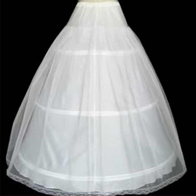 In Magazzino Vendita Calda 3 Hoops Ball Gown Bone Completo campana della Crinolina Sottogonne Per Abito Da Sposa Da Sposa Gonna Quinceanera Abito Sottoveste