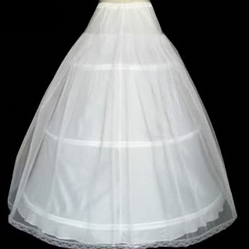 Image 2 - In Stock Hot Sale 3 Hoops Ball Gown Bone Full Crinoline Petticoats For Wedding Dress Wedding Skirt  Quinceanera Dress Petticoat-in Petticoats from Weddings & Events