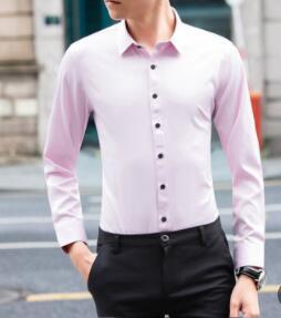 Осень 2018 новое пальто чистый цвет с длинным рукавом рубашка мужская cultivate one's morality досуг Джокер Мода-dbg-E99