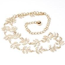 Luxury Metal Thin Gold Leaf Belt