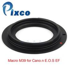 Pixco para el anillo adaptador de lente M39 EOS funciona para Macro M39 para Canon EOS EF 5D Mark III 5D Mark II 1Ds Mark [IV/III/II/]