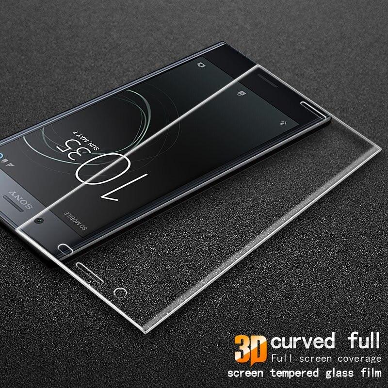 IMAK pour Sony Xperia XZ Premium Trempé Verre 3D Courbe Revêtement complet Trempé Garde Protecteur D'écran En Verre pour Sony Xperia XZ prime